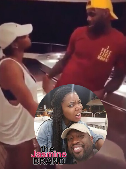 Couple's Retreat! LeBron James, Dwyane Wade & Chris Paul Vacay With Their Wives [VIDEO]