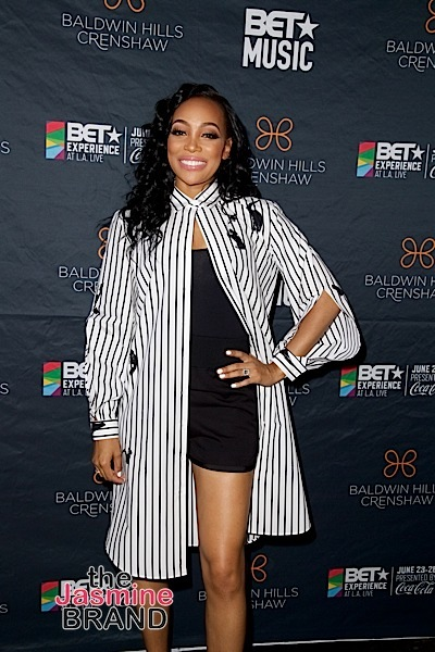 LOS ANGELES, CA - JUNE 18: Singer Monica attends the 2016 BET Experience at Baldwin Hills Crenshaw Plaza on June 18, 2016 in Los Angeles, California. (Photo by Earl Gibson/BET/Getty Images for BET)