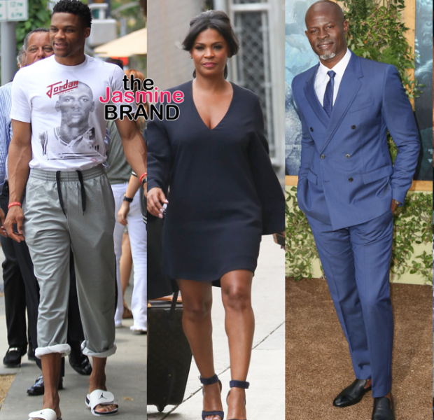 Russell Westbrook Steps Out in Beverly Hills, Nia Long Hits Kimmel, Djimon Hounsou Attends Tarzan Premiere + Magic & Cookie Johnson, Samuel L. Jackson [Photos]