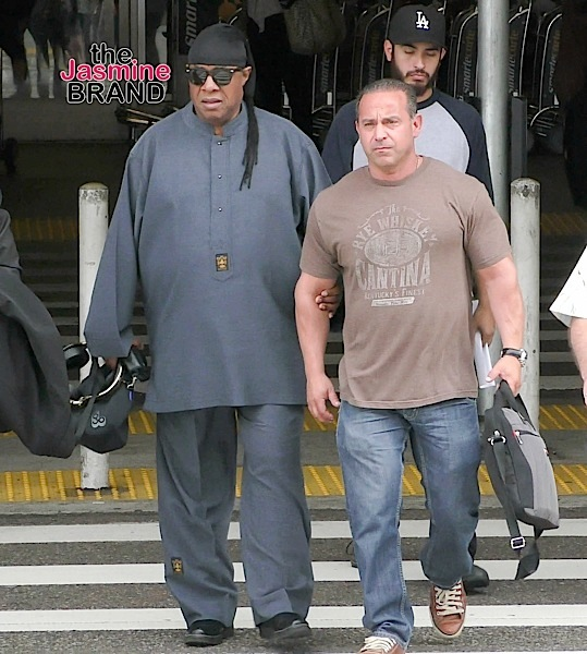 Stevie Wonder Sighted Arriving at LAX Airport on May 28, 2016