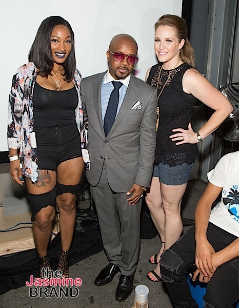TV personality Erica Dixon, executive producer Jermaine Dupri, and Robin Dyke
