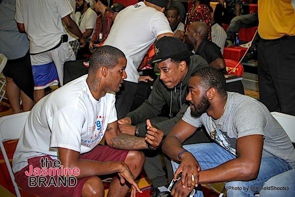 NBA players Trevor Ariza, DeMar DeRozan and John Wall