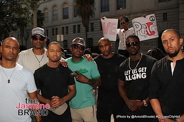 Black Hollywood Joins #OccupyCityHall Movement: Meagan Good, Marlon Wayans, Boris Kodjoe, Tina Knowles-Lawson, Eva Marcille, Lance Gross, Omar Epps, DeVon Franklin