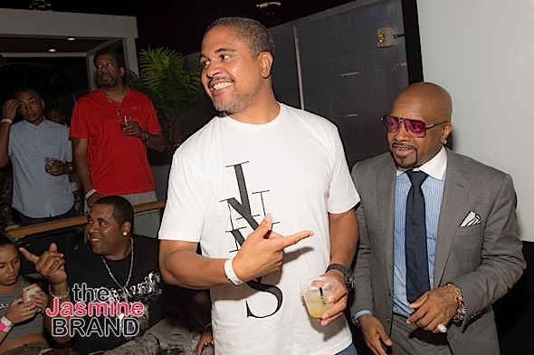 """ATLANTA, GA - JULY 22: R&B record producer Irv Gotti and exectuvie producer Jermaine Dupri attend the private screening of Lifetime's """"The Rap Game"""" at Suite Food Lounge on July 22, 2016 in Atlanta, Georgia. (Photo by Marcus Ingram/Getty Images for Lifetime)"""