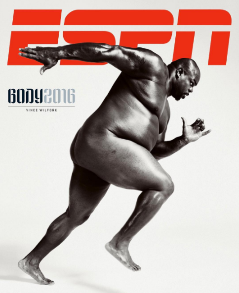 Vince Wilfork Is Confidently Sexy for ESPN's 'Body Issue': I really don't care about six-packs.