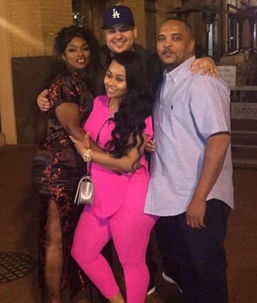 Blac Chyna with Rob and her parents.