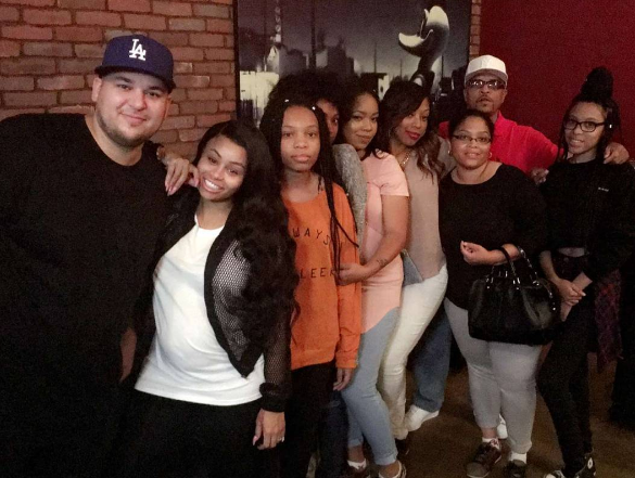 Blac Chyna with her extended family.