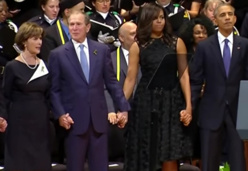 George Bush Slammed For Dancing During Dallas Memorial Tribute [VIDEO]