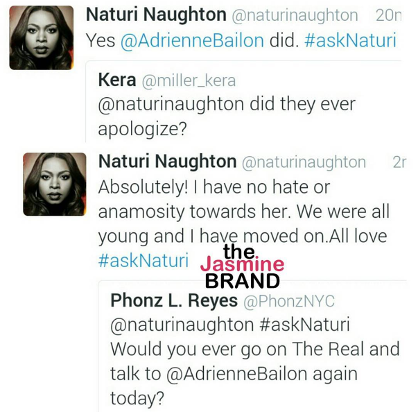 Naturi Naughton: I Have NO Beef With Adrienne Bailon