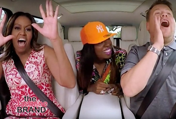 Watch Michelle Obama's Epic Carpool Karaoke Moment With Missy Elliott [VIDEO]