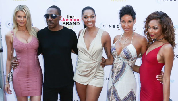 Eddie Murphy's Ex Wife & Girlfriend Attend Red Carpet Event [Happily Blended Family]