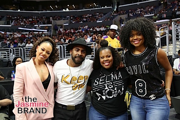 Amber Riley & Elle Varner Hit Sparks Game, Wyclef & SchoolBoyQ Hit DMV [Photos]