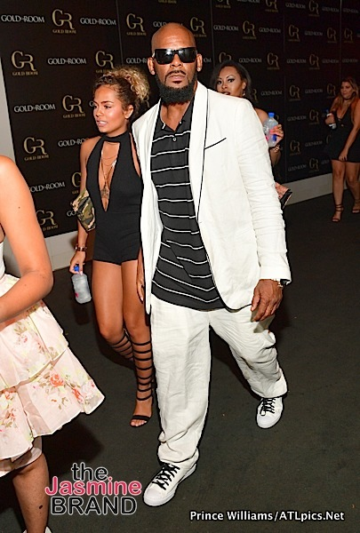 R.Kelly & New Girlfriend Halle Calhoun Party in ATL [Photos]