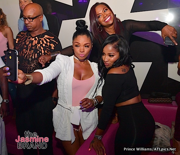 Kandi Burruss, Toya Wright, Rasheeda Frost, Premadonna, Kenny Burns Spotted at Gold Room [Photos]