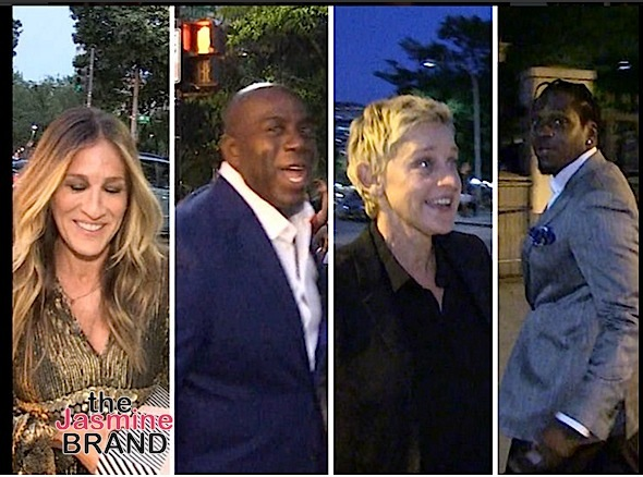 Sarah Jessica Parker, Magic Johnson, Ellen, Pusha T
