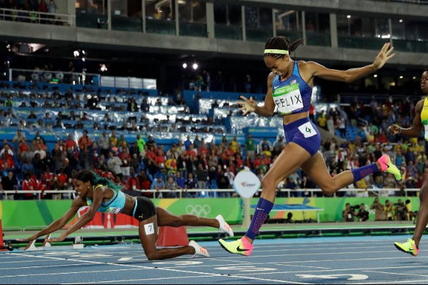 Shaunae Miller Upsets Allyson Felix, Dives to Finish Line [VIDEO]