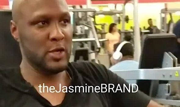 Lamar Odom Hits the Gym [VIDEO]