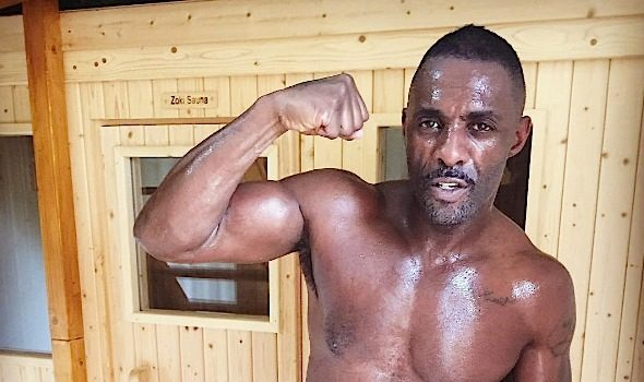 Idris Elba Goes Shirtless, Preps For First Fight [Photos]