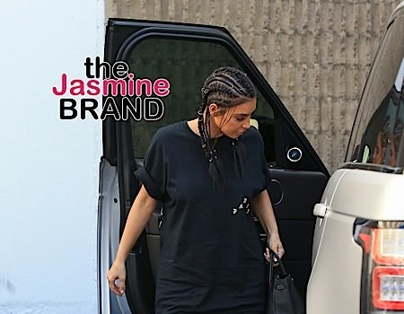 Kim Kardashian Rocks Pierced Cornrows [New Hair Alert]