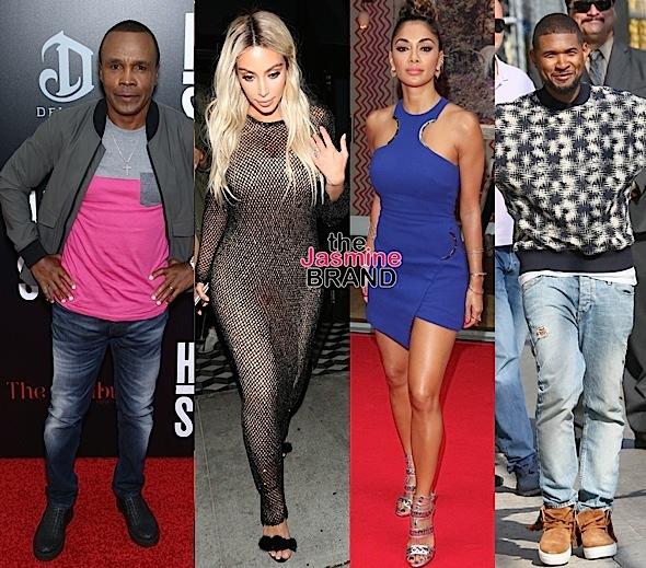 Sugar Ray Leonard, Kim Kardashian, Nicole Scherzinger, Usher Raymond