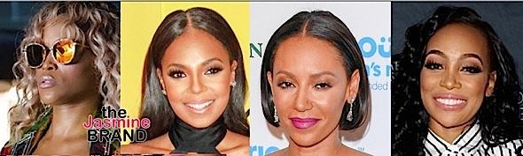 Eve, Ashanti, Mel B, Monica