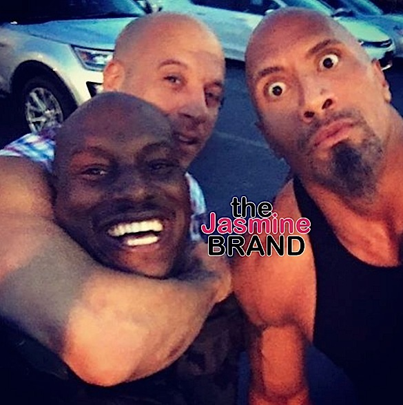 tyrese the rock vin diesel the jasmine brand