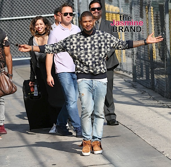 "Usher Sighted Arriving at ""Jimmy Kimmel Live!"" on August 25, 2016"