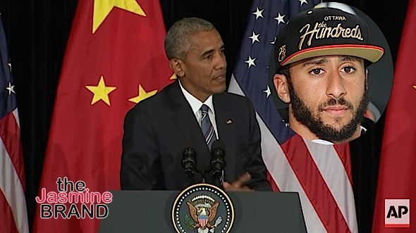 Obama Kaepernick protest the jasmine brand