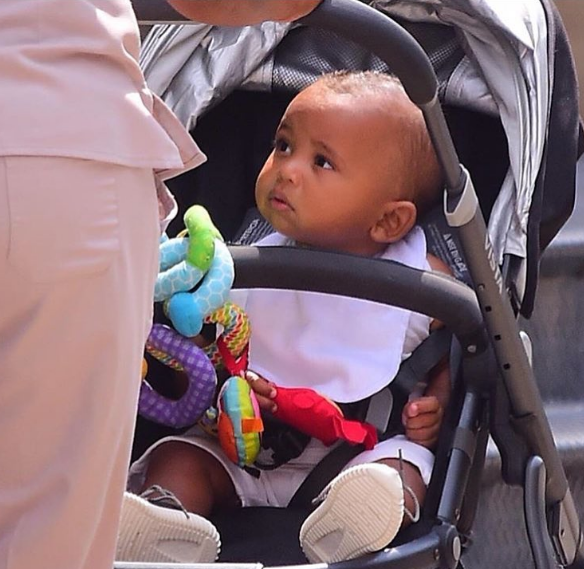 Saint West & His Fresh Pair of Yeezy's Spotted in NYC [Spotted. Stalked. Scene.]