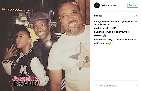 Barber with Janelle Monae and Chris Rock