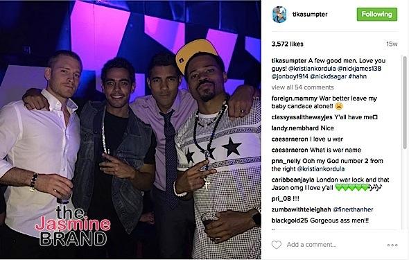 Tika posts a photo of Nicholas and friends