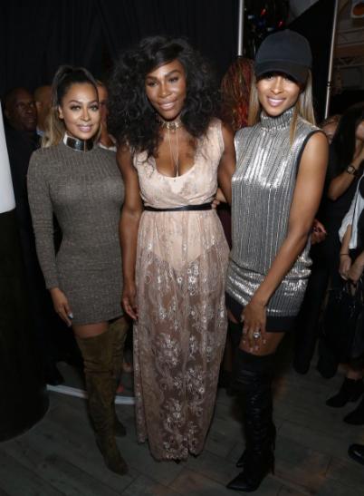 Girl Power: Ciara, Lala Anthony, Naturi Naughton Support Serena Williams At NYFW [Photos]