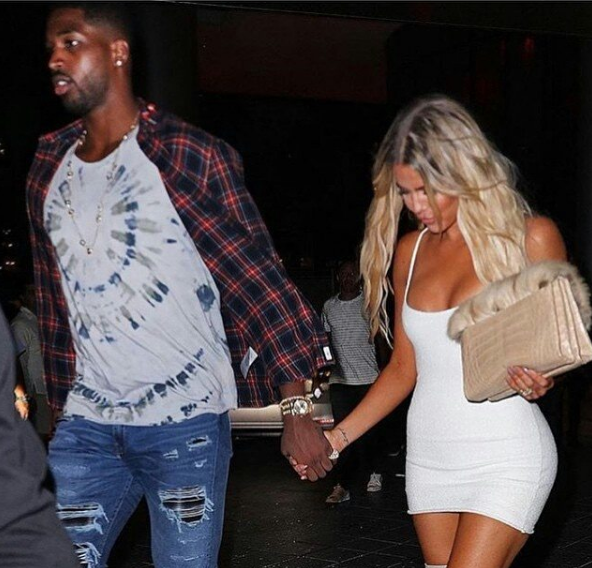 Khloe Kardashian & NBA Baller Tristan Thompson Swap Tongues In Club [VIDEO]
