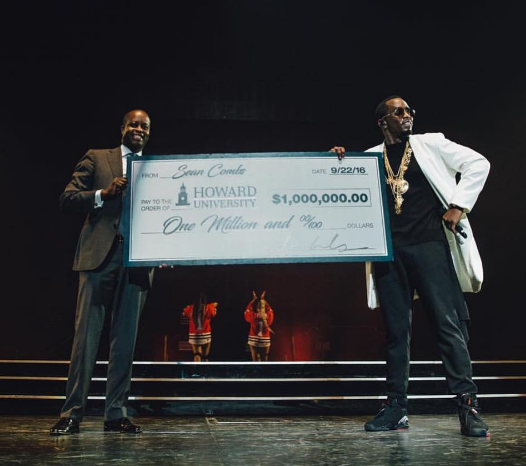 Sean 'Diddy' Combs Gives Howard University $1 Million