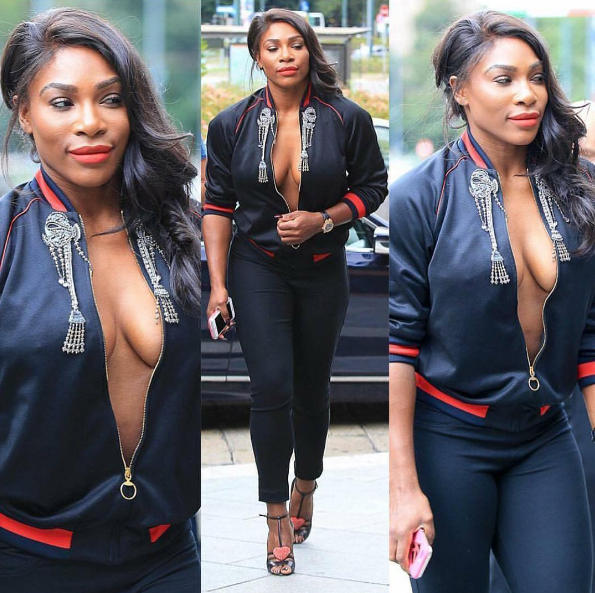 Serena Williams Serves Cleavage At Milan Fashion Week [Stop & Stare]