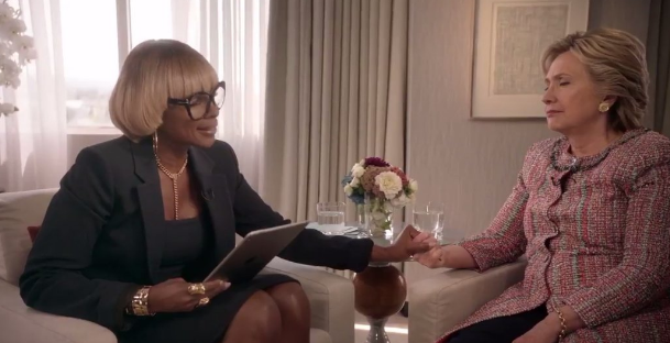 Creative or Awkward? Mary J. Blige Serenades Hillary Clinton During Sit-Down Interview [VIDEO]