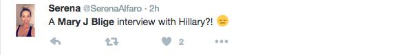 Mary J. Blige Serenades Hillary Clinton