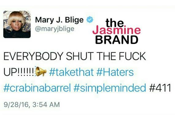 Mary J. Blige Tells Critics: Shut the f**k up!