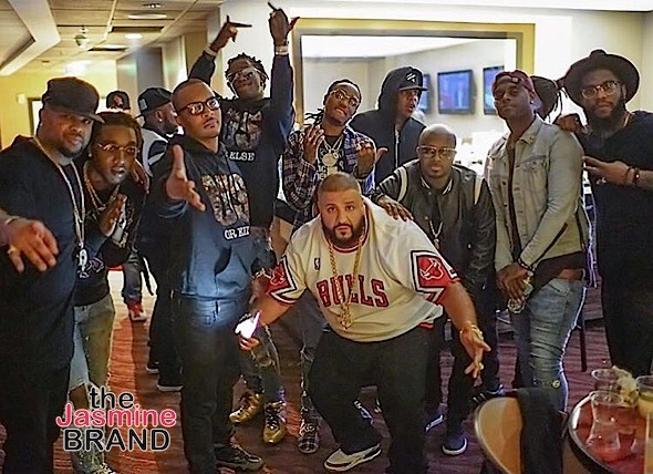 Celebs Spotted at Beyonce's Formation Tour In ATL- Dj Khaled The Dream Jermaine Dupri TI Young Thug