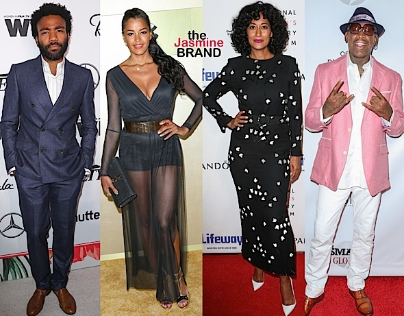 Donald Glover, Claudia Jordan, Tracee Ellis Ross