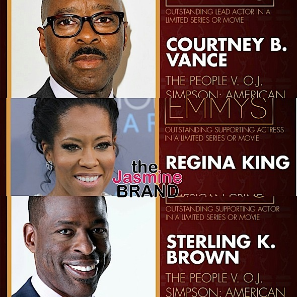 Regina King, Courtney B. Vance, Sterling K. Brown, 'Key & Peele' Win Emmys + Complete List of Winners!