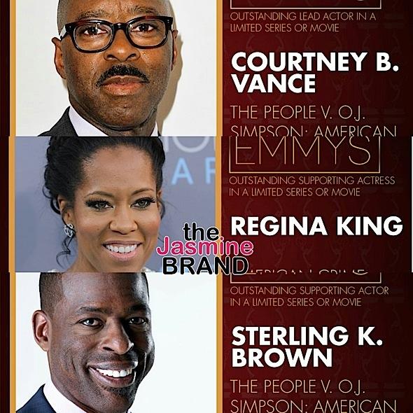 Regina King, Courtney B. Vance, Sterling K. Brown, 'Key & Peele' Win Emmys + Complete List of Winners!