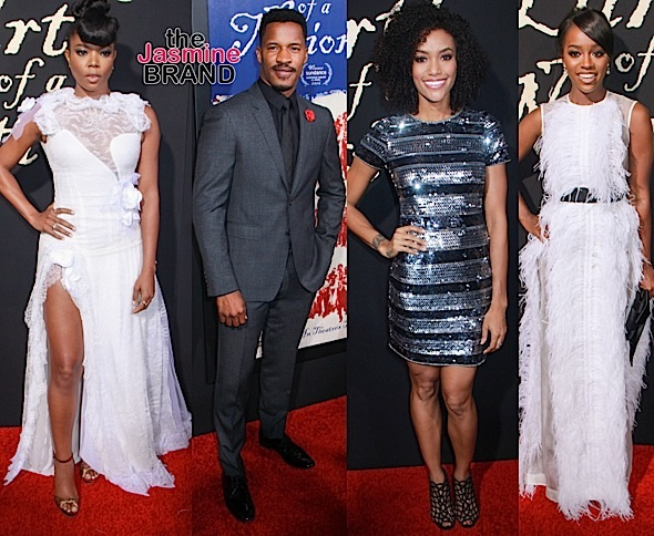 'The Birth of A Nation' Premiere: Nate Parker, Gabrielle Union, Aja Naomi King, Garcelle Beauvais, Annie Ilonzeh, Alfre Woodard, Laura Govan & Derek Fisher [Photos]