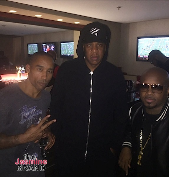 Celebs Spotted at Beyonce's Formation Tour In ATL- Jay Z and Jermaine Dupri