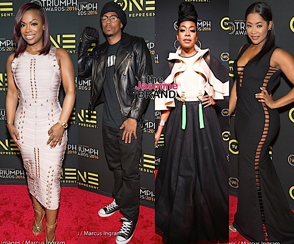 Fantasia, Kandi Burruss, Nick Cannon, V.Bozeman, Lisa Wu, Joe, Eric Benet Attend the 2016 Triumph Awards [Photos]