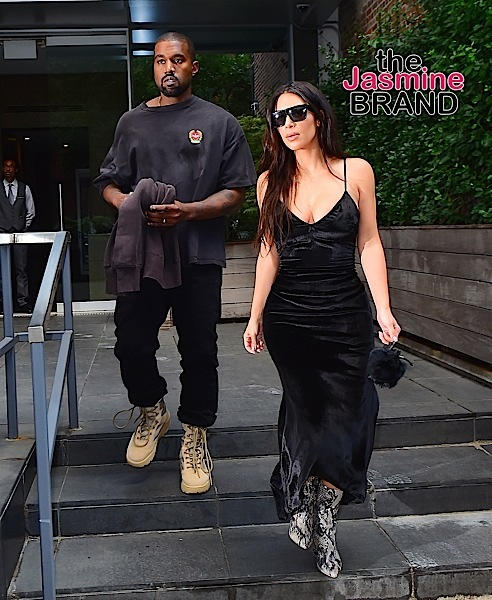 Kim Kardashian and Kanye West were spotted in matching all black outfits as they moved out of their NYC Penthouse AirBnb. Kim Kardashian wore a black velvet dress with Python boots, as she walked with her husband to their car. They caught a flight to Miami to meet up with Kim's sisters, before heading to Tampa for Kanye's concert.  Pictured: Kim Kardashian, Kanye West Ref: SPL1354115  140916   Picture by: 247PAPS.TV / Splash News  Splash News and Pictures Los Angeles:	310-821-2666 New York:	212-619-2666 London:	870-934-2666 photodesk@splashnews.com