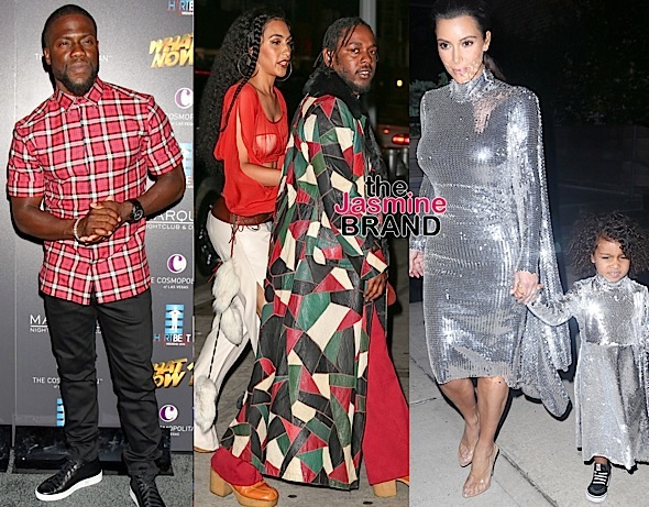 Kendrick Lamar & Fiance Hit Bey's Bash, Kim & North Match For Pablo Tour, Kevin Hart Hosts 'What Now' Concert + O.T. Genasis, Busta Rhymes, Ryan Lewis & Macklemore