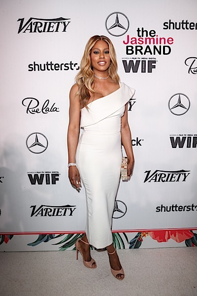 09/16/2016 - Laverne Cox - Variety and Women in Film Host Pre-68th Annual Primetime Emmy Awards Celebration - Arrivals - Gracias Madre, 8905 Melrose Avenue - West Hollywood, CA, USA - Keywords: Vertical, WIF, Annual Event, Emmys, Party, Social Event, People, Person, Television Show, Photography, Portrait, Arts Culture and Entertainment, Arriving, Attending, Celebrity, Celebrities, 2016 Primetime Emmy Awards, 68th Primetime Emmy Awards, Media, Digital, Film Industry, Los Angeles, California Orientation: Portrait Face Count: 1 - False - Photo Credit: PRPhotos.com - Contact (1-866-551-7827) - Portrait Face Count: 1