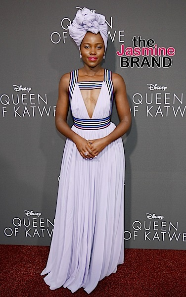 Lupita Nyong'o Wears Elie Saab To 'Queen of Katwe' Premiere [Celebrity Fashion]