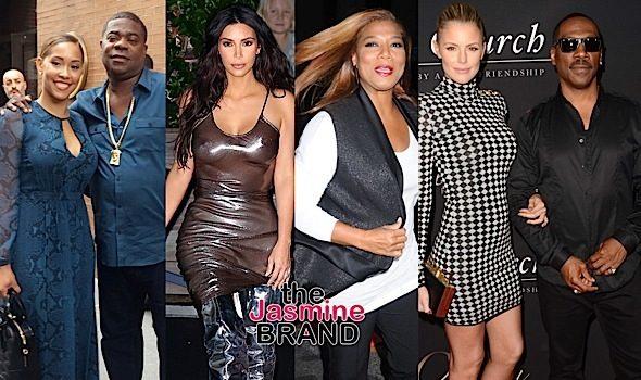 Kim Kardashian Rocks Nips & Metallic, Queen Latifah Hits NYFW Kick-Off Party, Tracy Morgan & Wife In NYC + Eddie Murphy's 'Mr. Church' Premiere